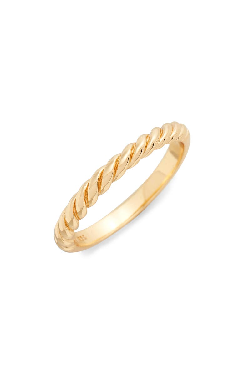 ARGENTO VIVO STERLING SILVER Argento Vivo Rope Ring, Main, color, Gold
