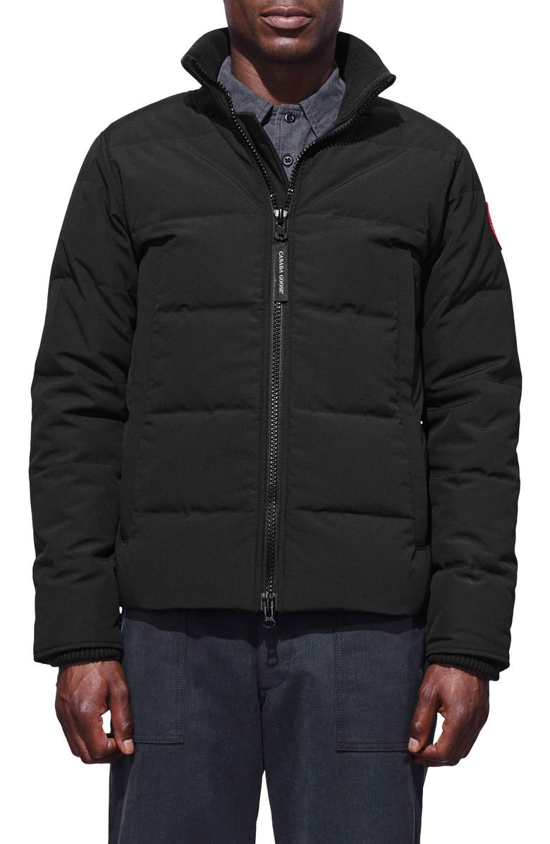 CANADA GOOSE Woolford Down Jacket, Main, color, Black