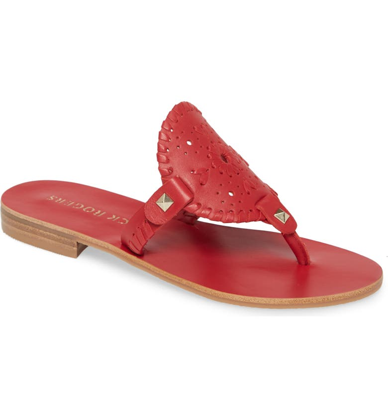JACK ROGERS 'Georgica' Sandals, Main, color, RED LEATHER