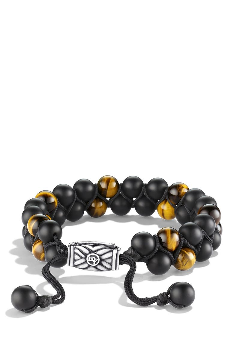 DAVID YURMAN Spiritual Beads Two-Row Stone Bracelet, Main, color, BLACK ONYX