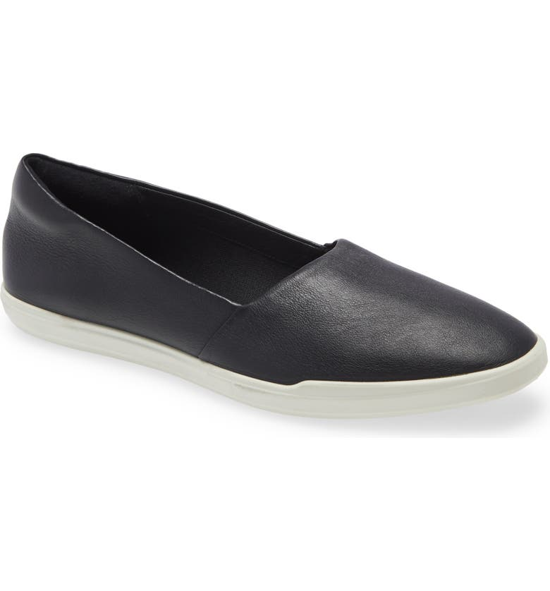 ECCO Simpil Loafer, Main, color, BLACK WHITE LEATHER
