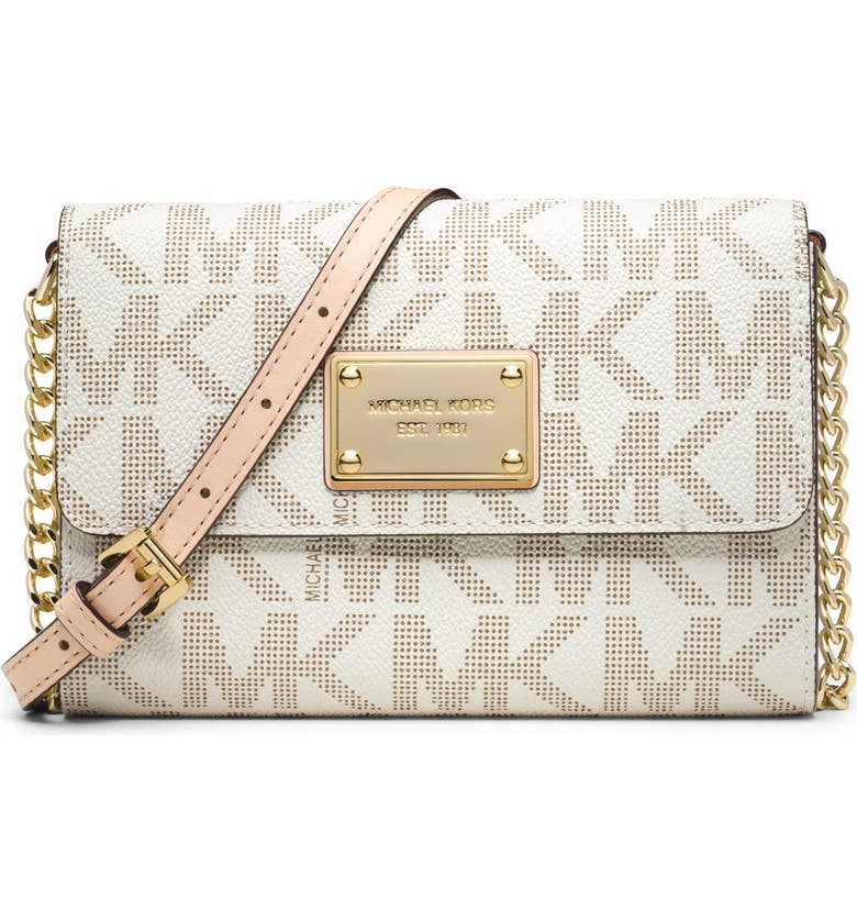 MICHAEL MICHAEL KORS 'Large Jet Set' Crossbody Phone Bag, Main, color, 150