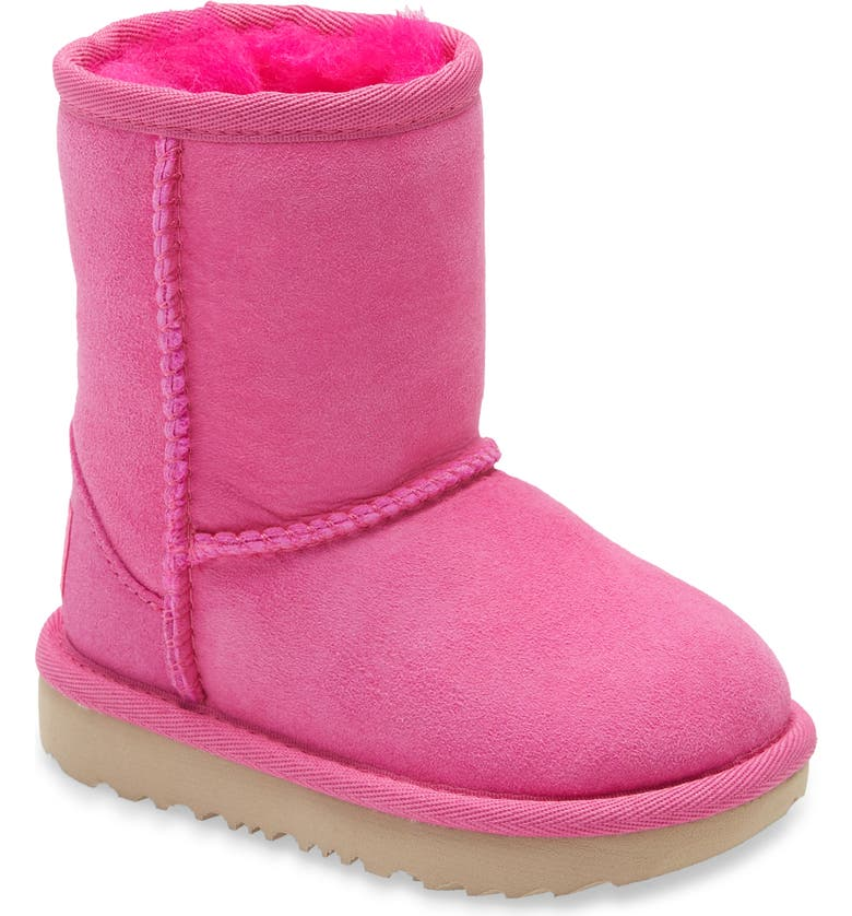 UGG<SUP>®</SUP> Classic Short II Water Resistant Genuine Shearling Boot, Main, color, ROCK ROSE