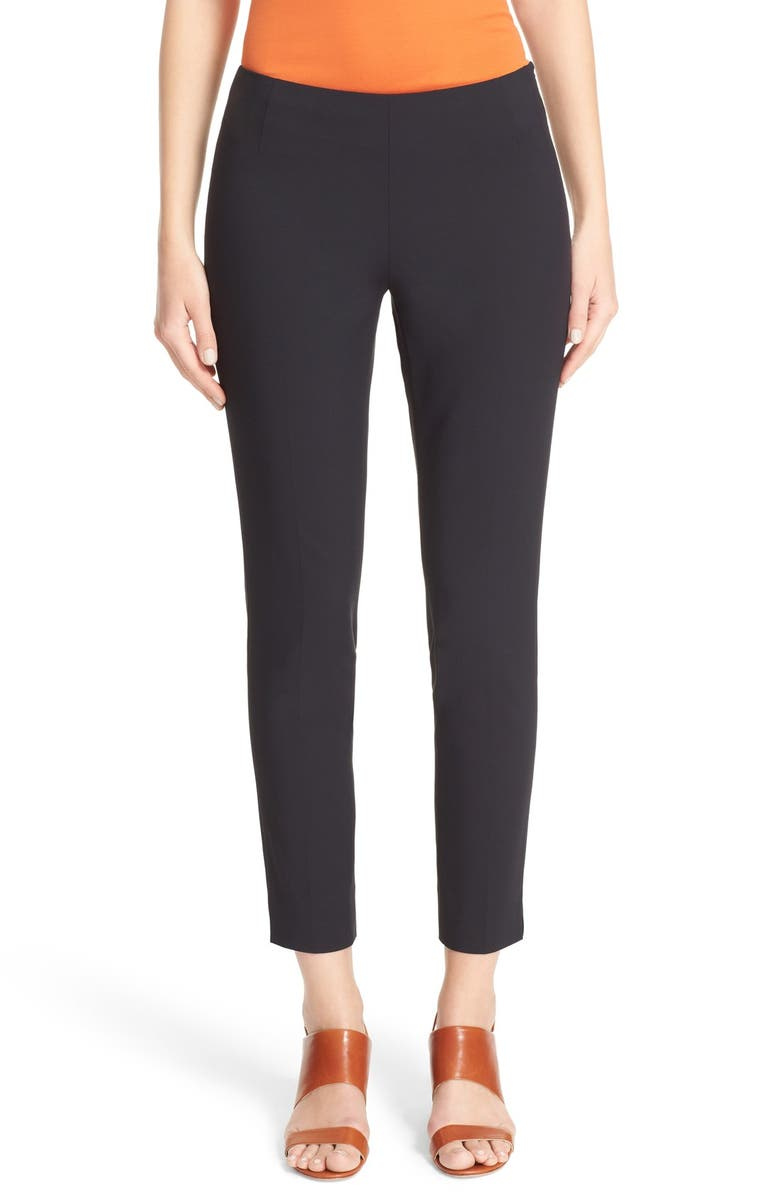 LAFAYETTE 148 NEW YORK Stanton Slim Leg Ankle Pants, Main, color, BLACK