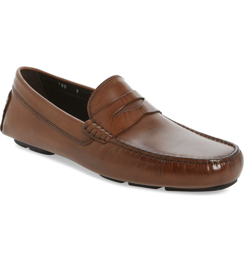 TO BOOT NEW YORK Palo Alto Driving Shoe, Main, color, TAN CALFSKIN