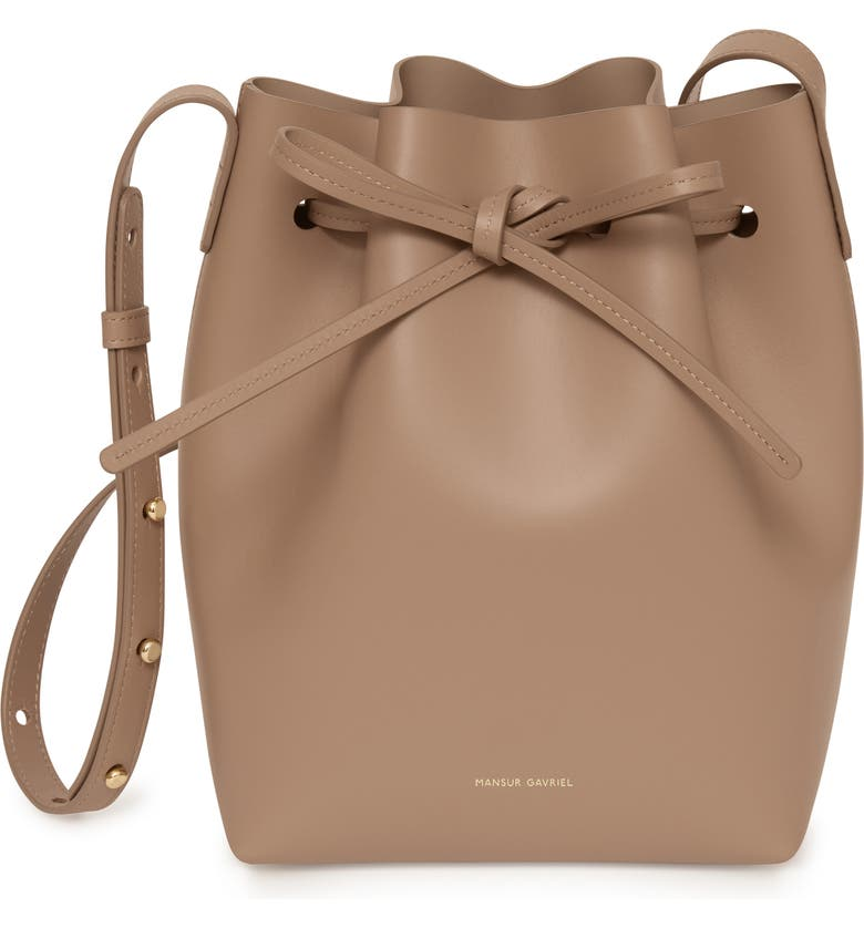 MANSUR GAVRIEL Mini Leather Bucket Bag, Main, color, 255