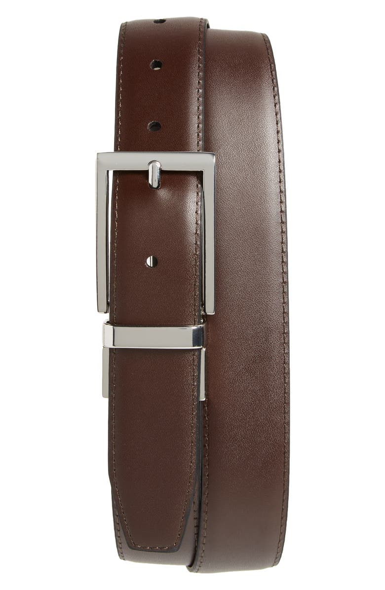 NORDSTROM Newman Reversible Leather Belt, Main, color, BLACK/ BROWN