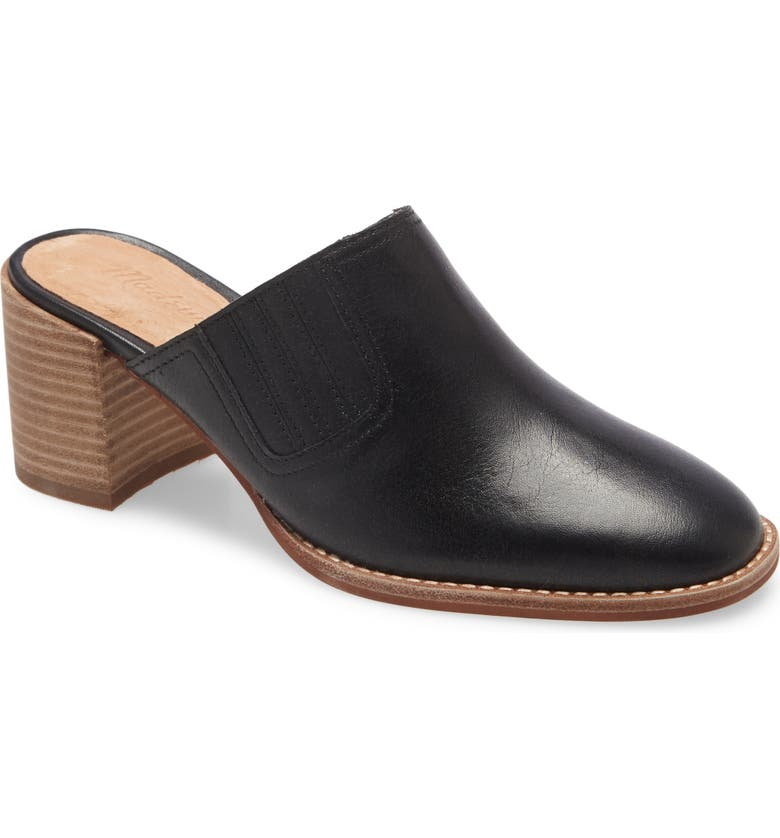 MADEWELL The Carey Mule, Main, color, TRUE BLACK