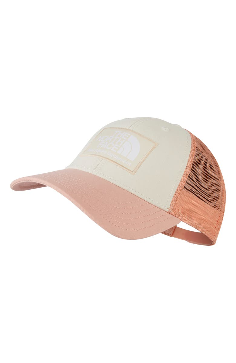THE NORTH FACE Mudder Trucker Hat, Main, color, PINK TINT/CAF CRME