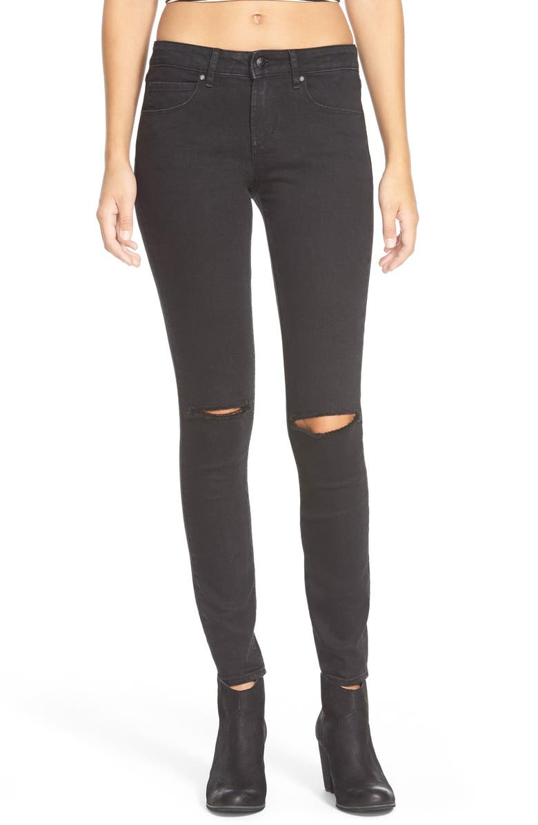 ARTICLES OF SOCIETY 'Sarah' Distressed Skinny Jeans, Main, color, 006