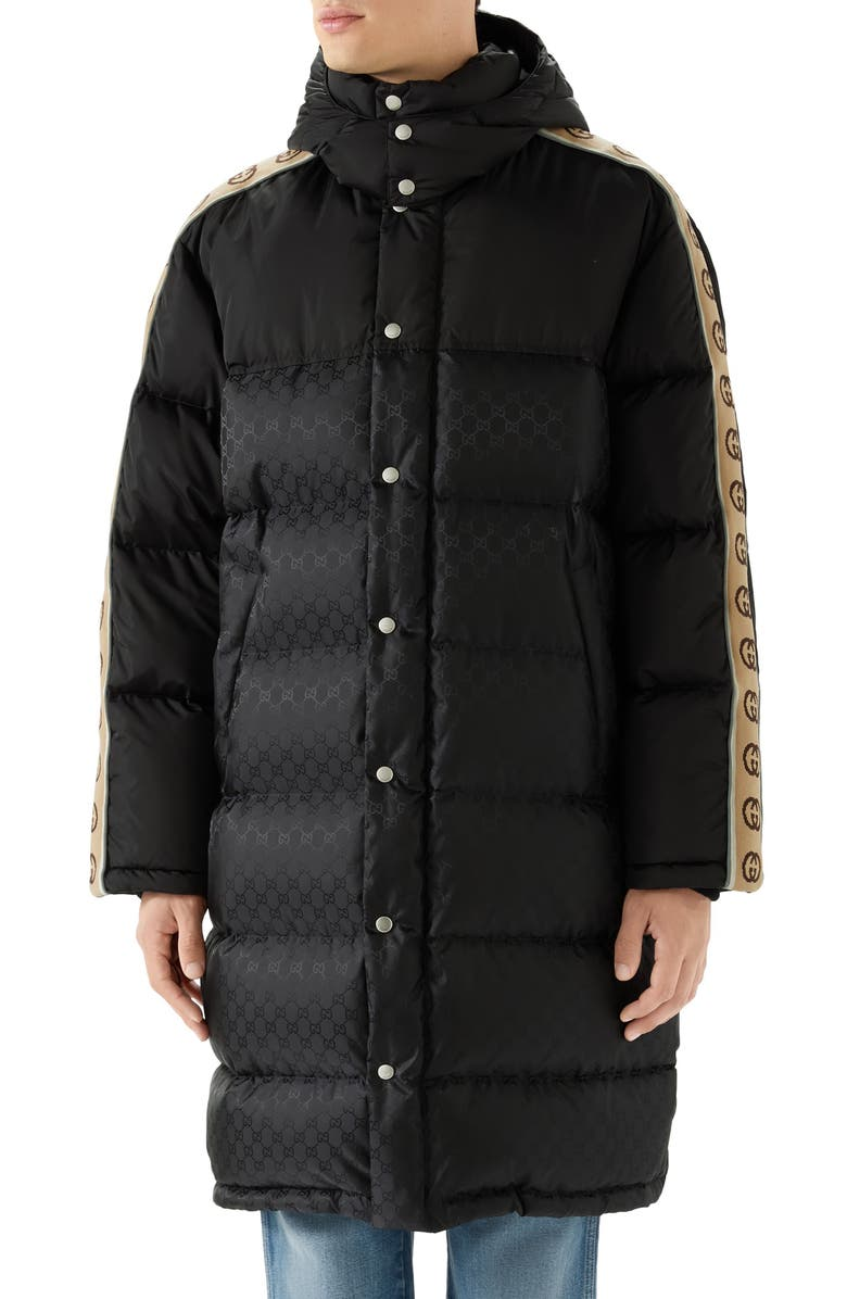 GUCCI GG Jacquard Nylon Coat, Main, color, 001