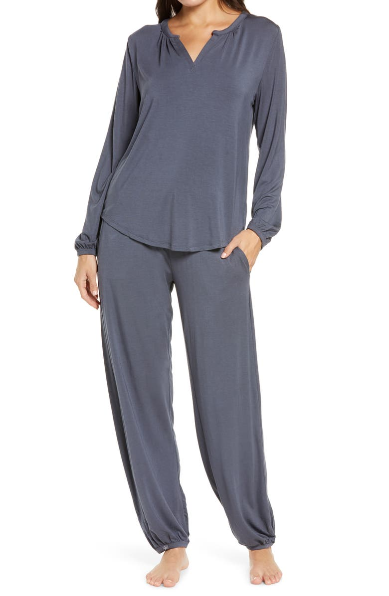 BAREFOOT DREAMS<SUP>®</SUP> Namaste Two-Piece Lounge Set, Main, color, PACIFIC BLUE