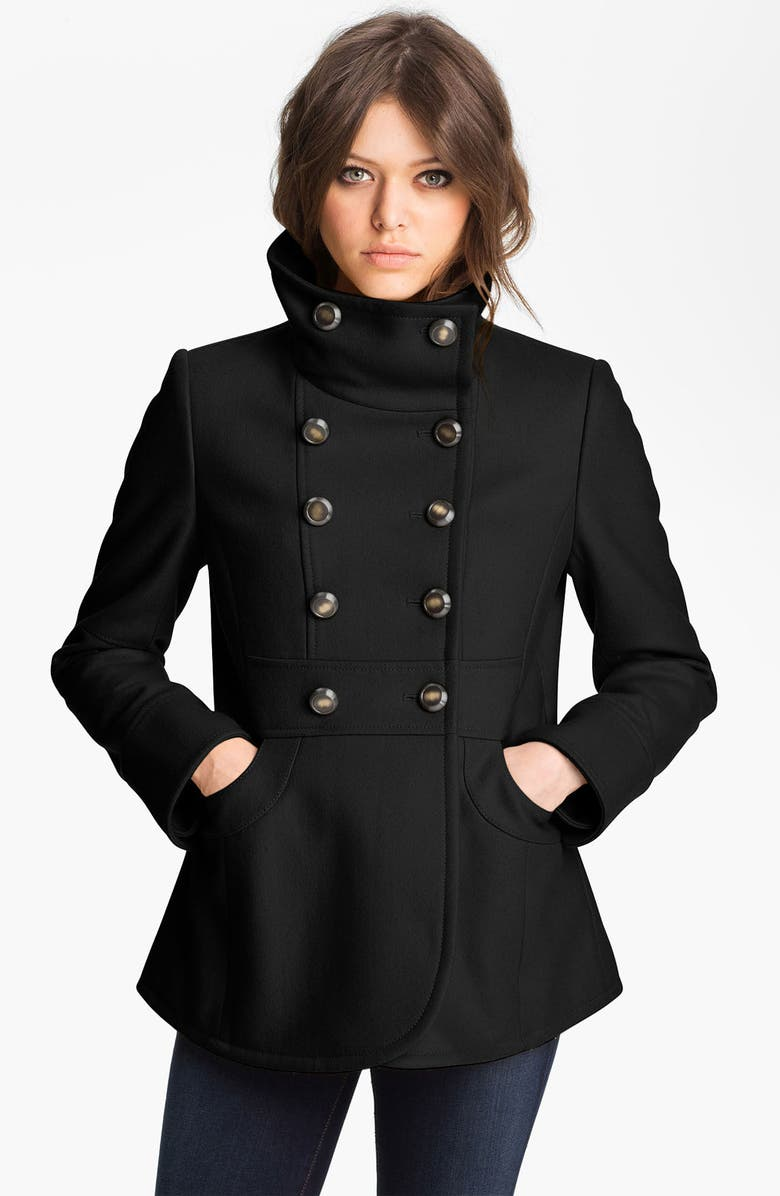 KENNETH COLE NEW YORK Double Breasted Peacoat, Main, color, 001
