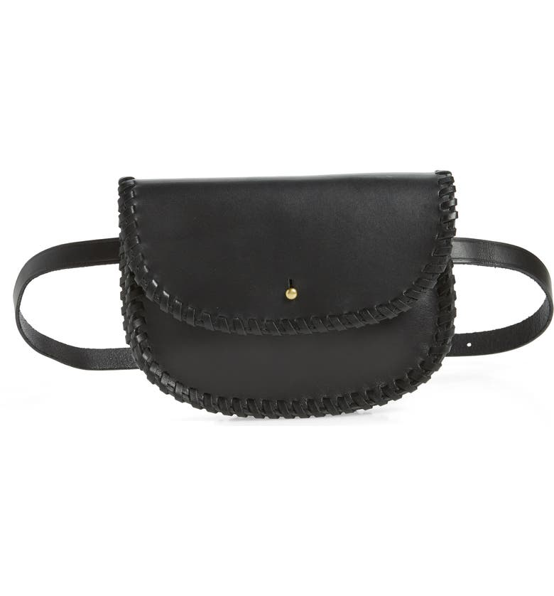 MADEWELL Whipstitch Belt Bag, Main, color, 001