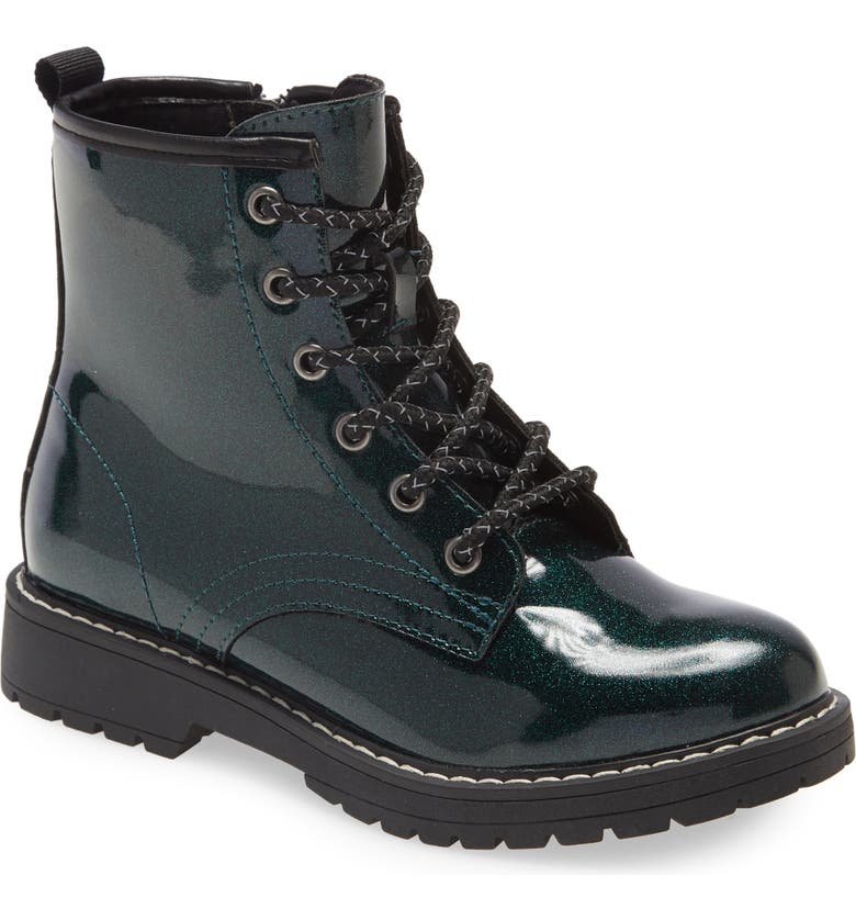 STEVE MADDEN Kids' Bettyy Lace-Up Boot, Main, color, EMERALD