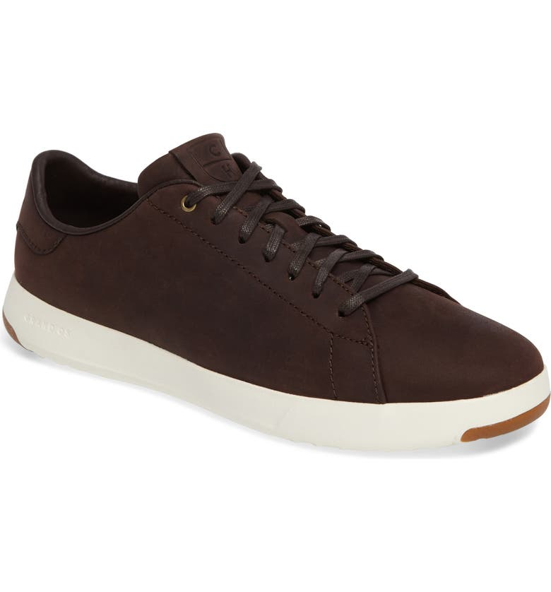 COLE HAAN GrandPro Low Top Sneaker, Main, color, JAVA LEATHER