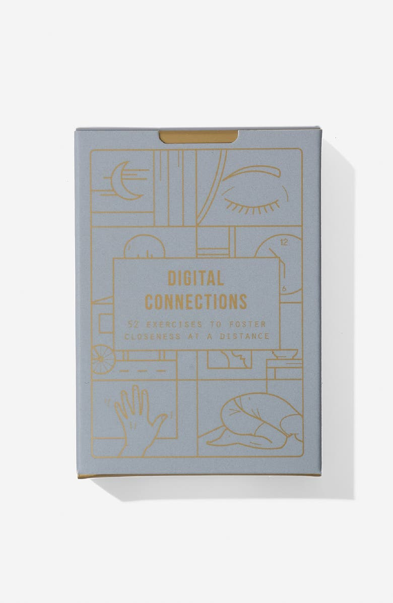 THE SCHOOL OF LIFE Digital Connections Set of 52 Prompt Cards, Main, color, LILAC/GOLD