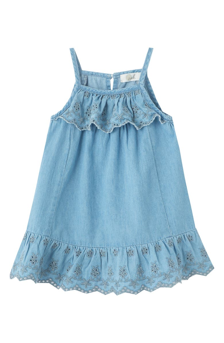 PEEK ESSENTIALS Embroidered Sundress, Main, color, CHAMBRAY