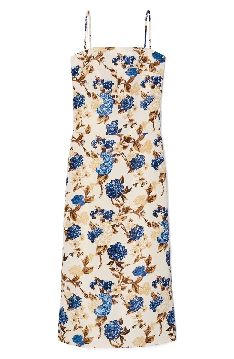 TORY BURCH Strappy Back Dress, Main, color, CARAMEL MIXED FLORAL