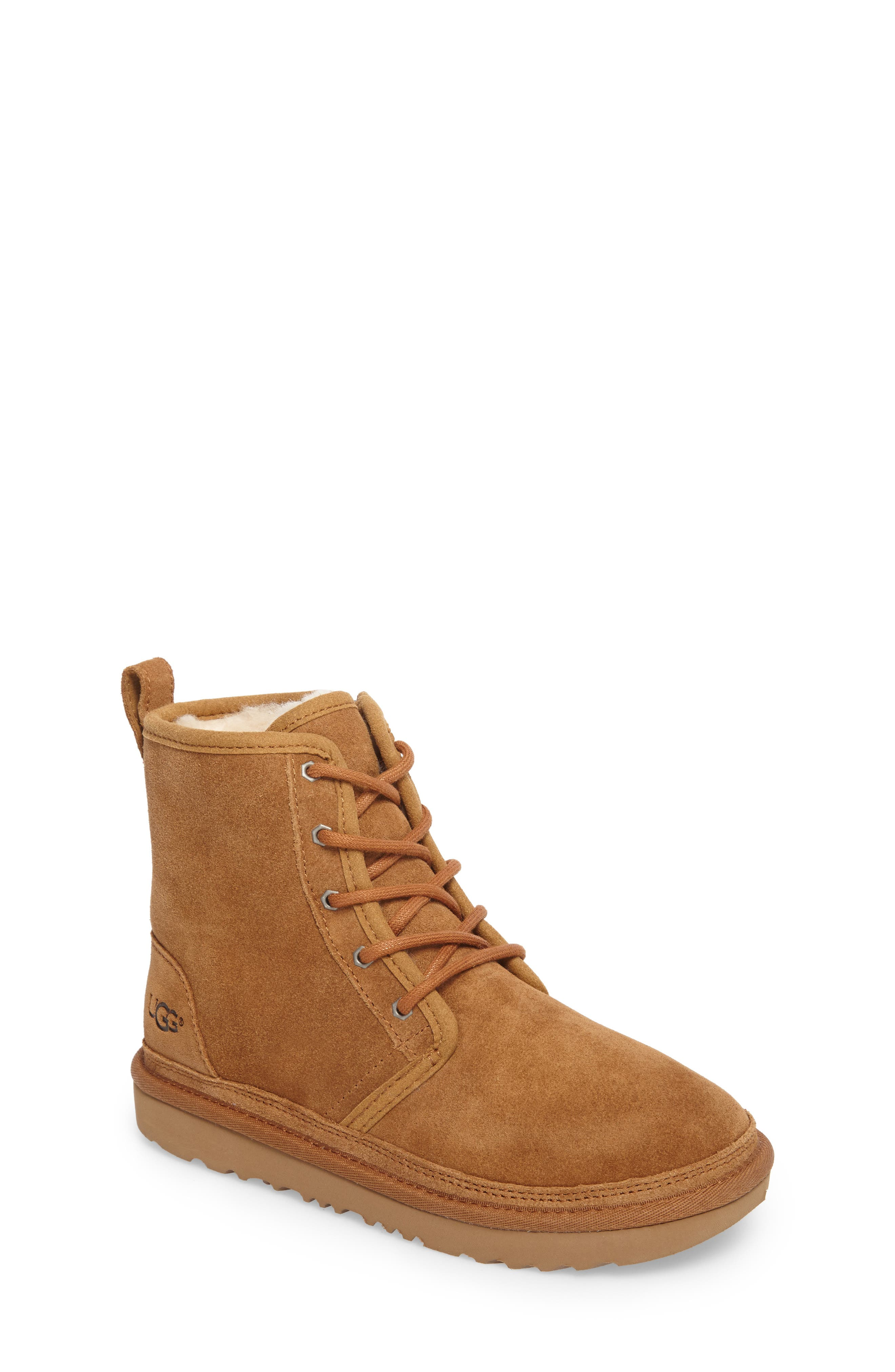 UGG® Harkley Lace-Up Boot (Little Kid