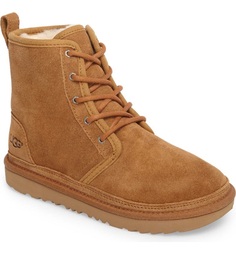 UGG<SUP>®</SUP> Harkley Lace-Up Boot, Main, color, CHESTNUT