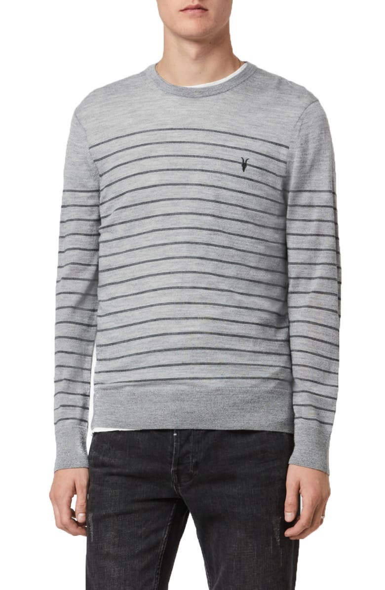 ALLSAINTS Mode Stripe Merino Sweater, Main, color, 086
