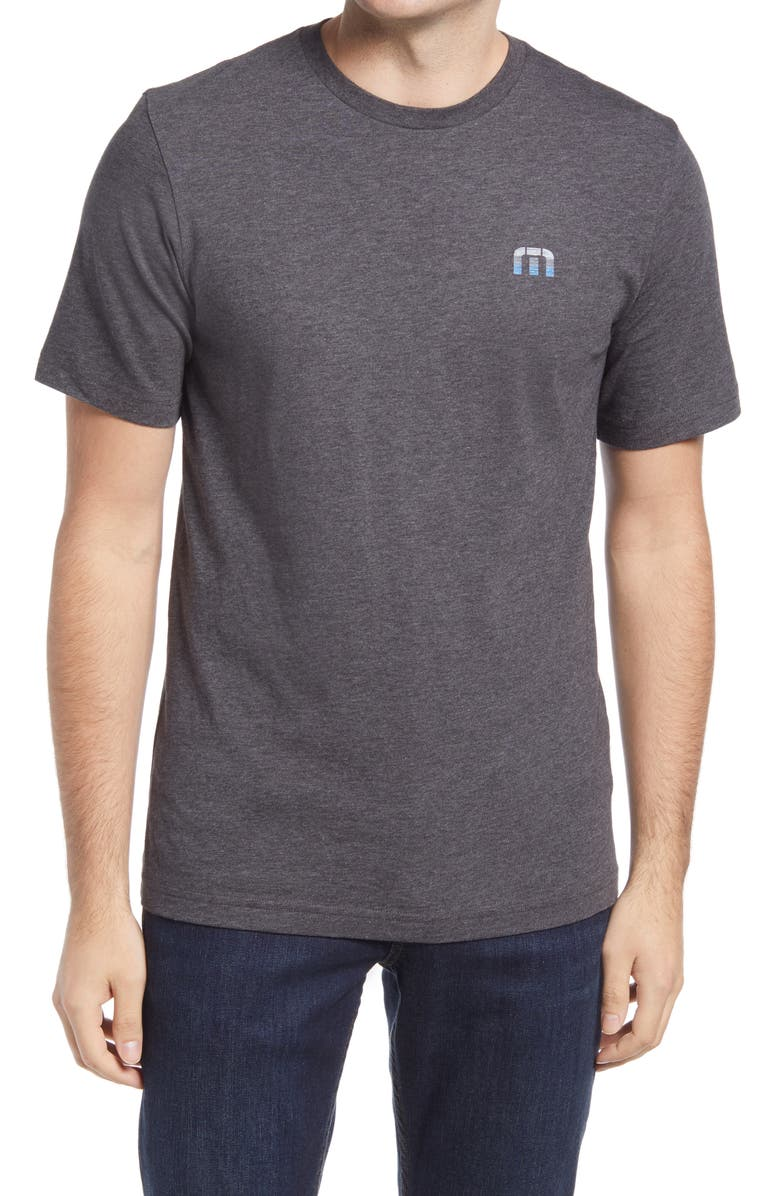 TRAVISMATHEW Yesterday's Outfit Heathered Graphic Tee, Main, color, HEATHER GREY PINSTRIPE
