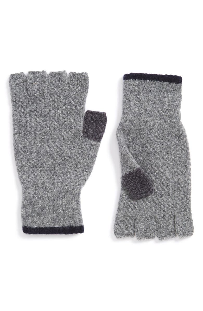 BARBOUR 'Canna' Fingerless Wool Gloves, Main, color, 021