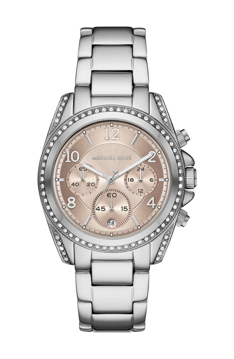 MICHAEL MICHAEL KORS Women's Blair Chronograph Stainless Steel Watch, 39mm, Main, color, PINK