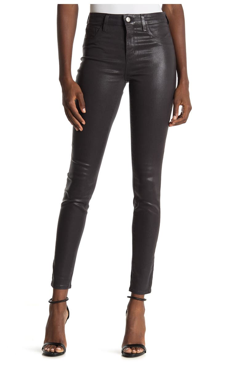 LAGENCE L'AGENCE Marguerite Coated High Waist Skinny Jeans, Main, color, GREYSTONE COATED