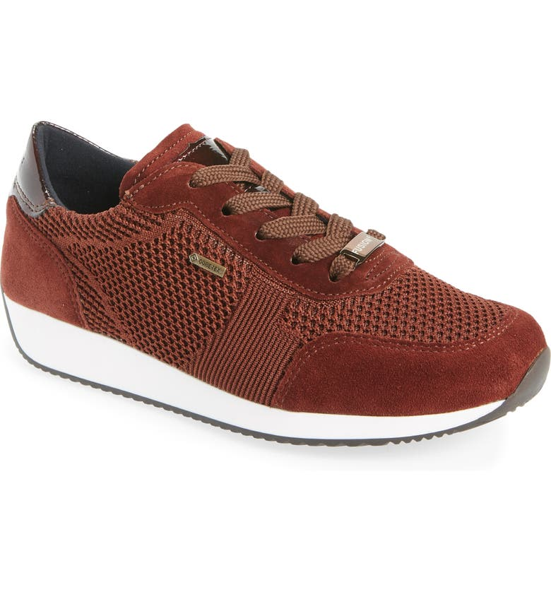 ARA Lila Gore-Tex<sup>®</sup> Waterproof Sneaker, Main, color, MARRON FABRIC