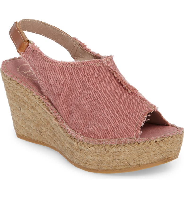 TONI PONS 'Lugano' Espadrille Wedge Sandal, Main, color, LIGHT PINK FABRIC