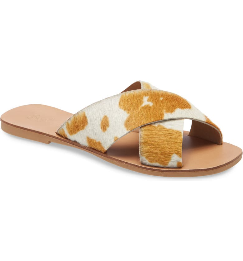 SEYCHELLES Total Relaxation Slide Sandal, Main, color, TAN COW LEATHER