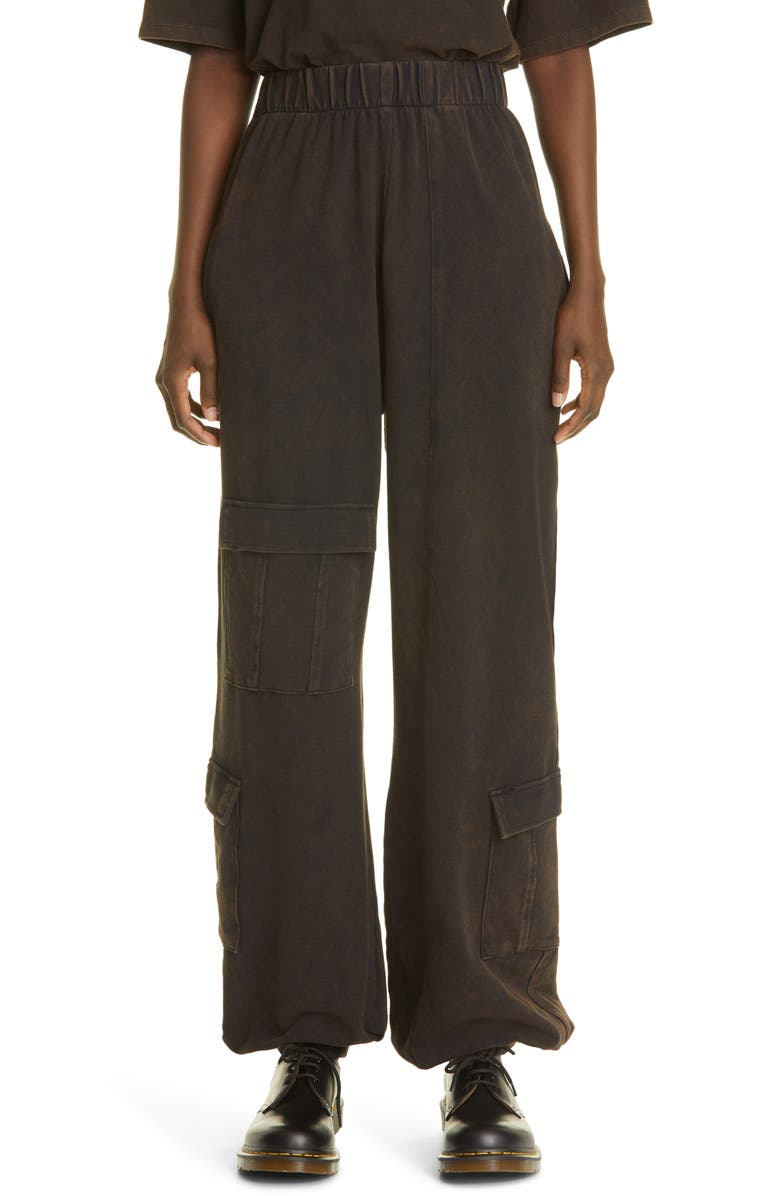 LIBERAL YOUTH MINISTRY Unisex '90s Cargo Pants, Main, color, DIRTY BLACK