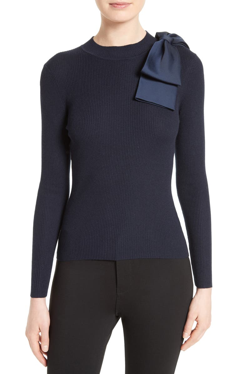 TED BAKER LONDON Nehru Rib Knit Jumper, Main, color, 402