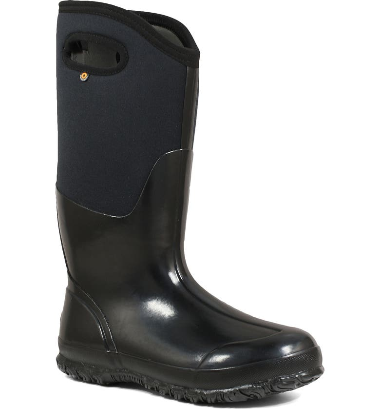 BOGS Classic Tall High Shine Insulated Waterproof Rain Boot, Main, color, 005