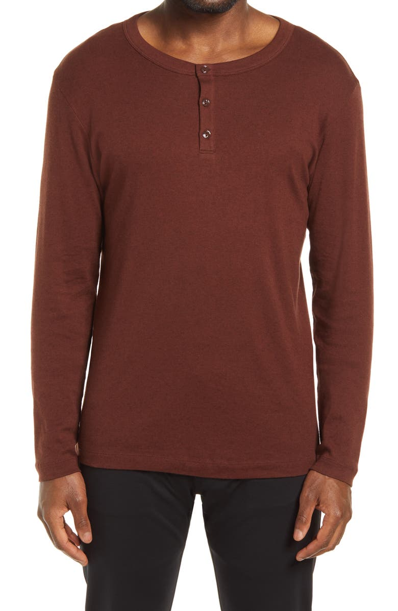 THEORY Wyndem Slim Fit Henley, Main, color, DARK PIMENTO
