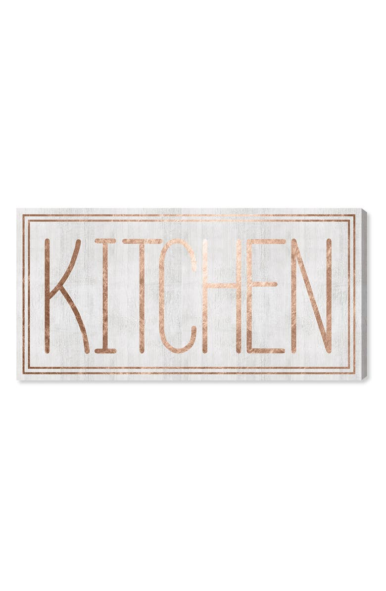 OLIVER GAL Kitchen Canvas Wall Art, Main, color, White