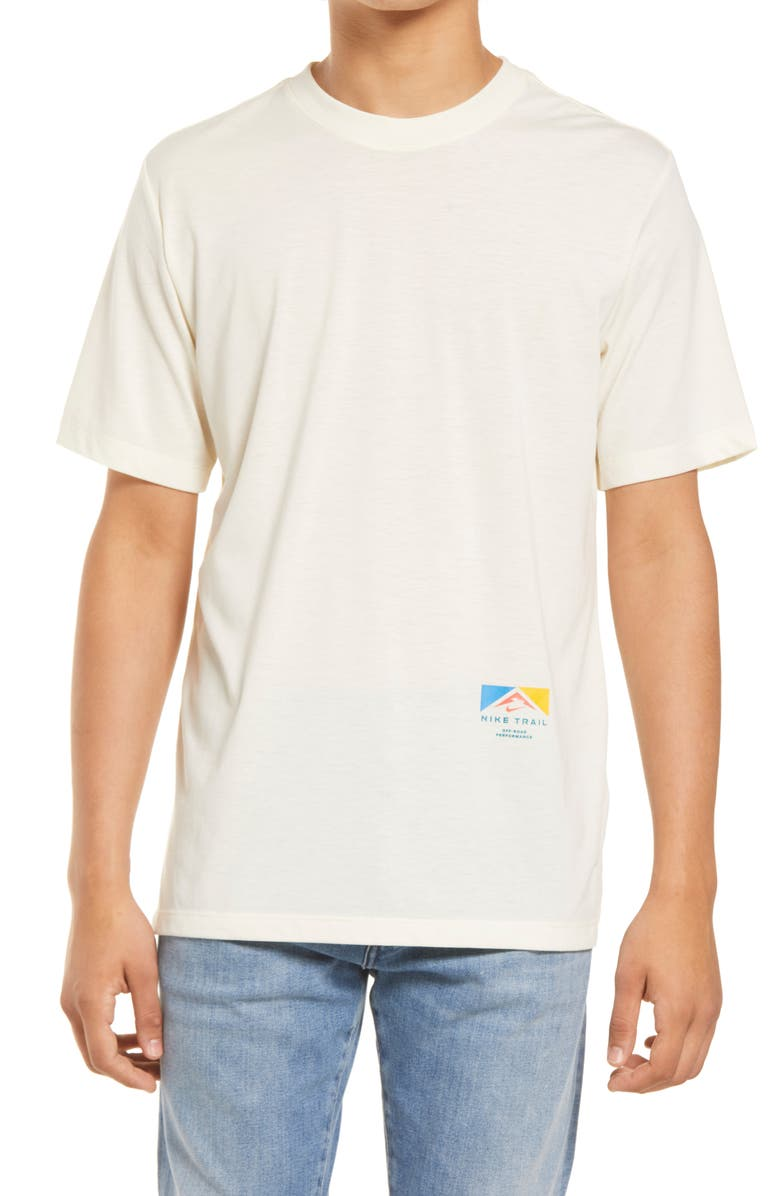 NIKE Dri-FIT Trail Running Graphic Tee, Main, color, CASHMERE