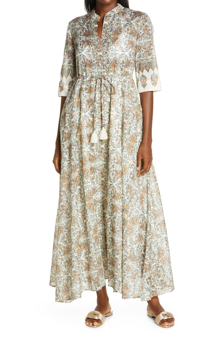 TORY BURCH Print Shirtdress, Main, color, INDIENNE CANVAS