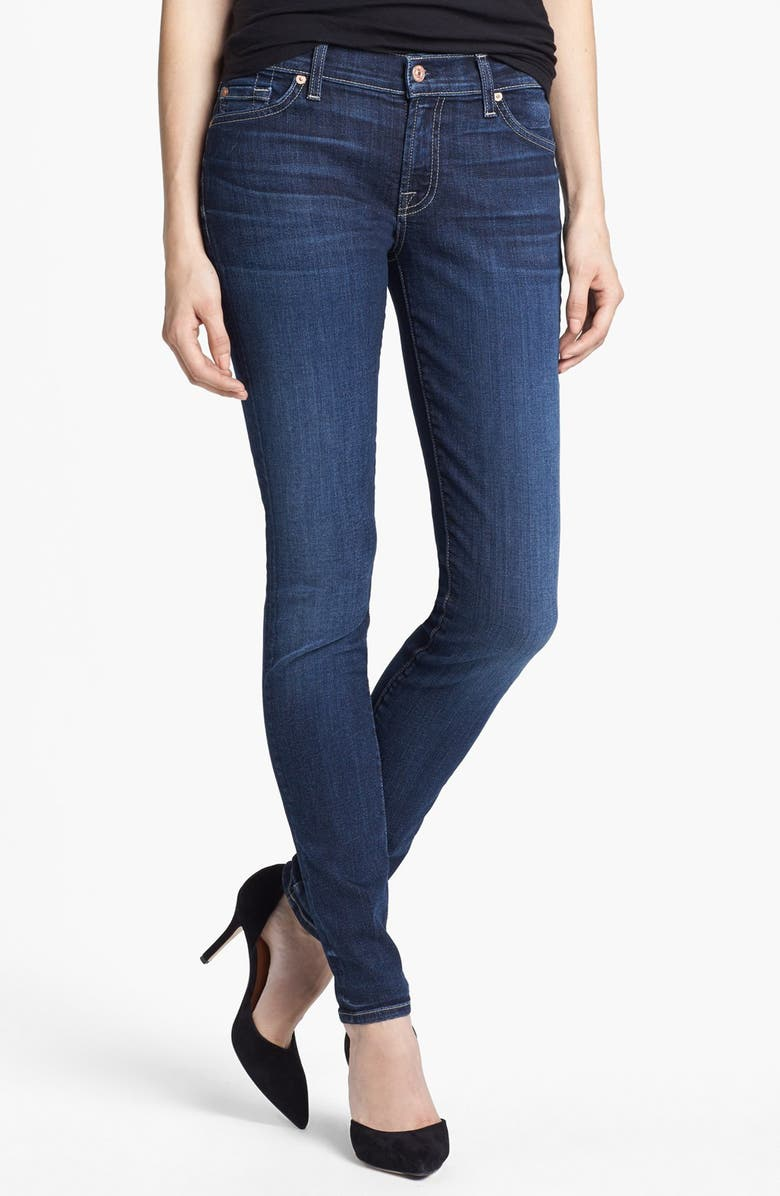 7 FOR ALL MANKIND<SUP>®</SUP> 'The Skinny' Stretch Jeans, Main, color, LA VERNA LAKE