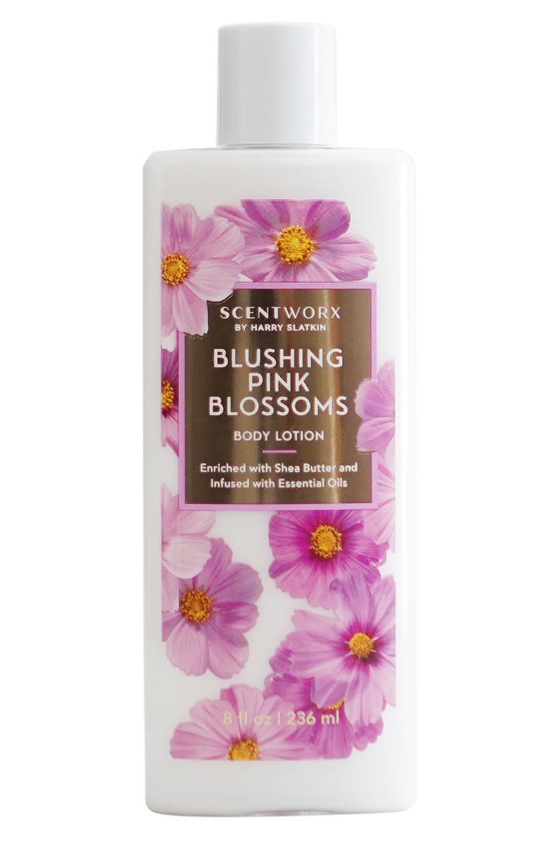 SCENTWORX Blushing Pink Blossoms Body Lotion, Main, color, NO COLOR