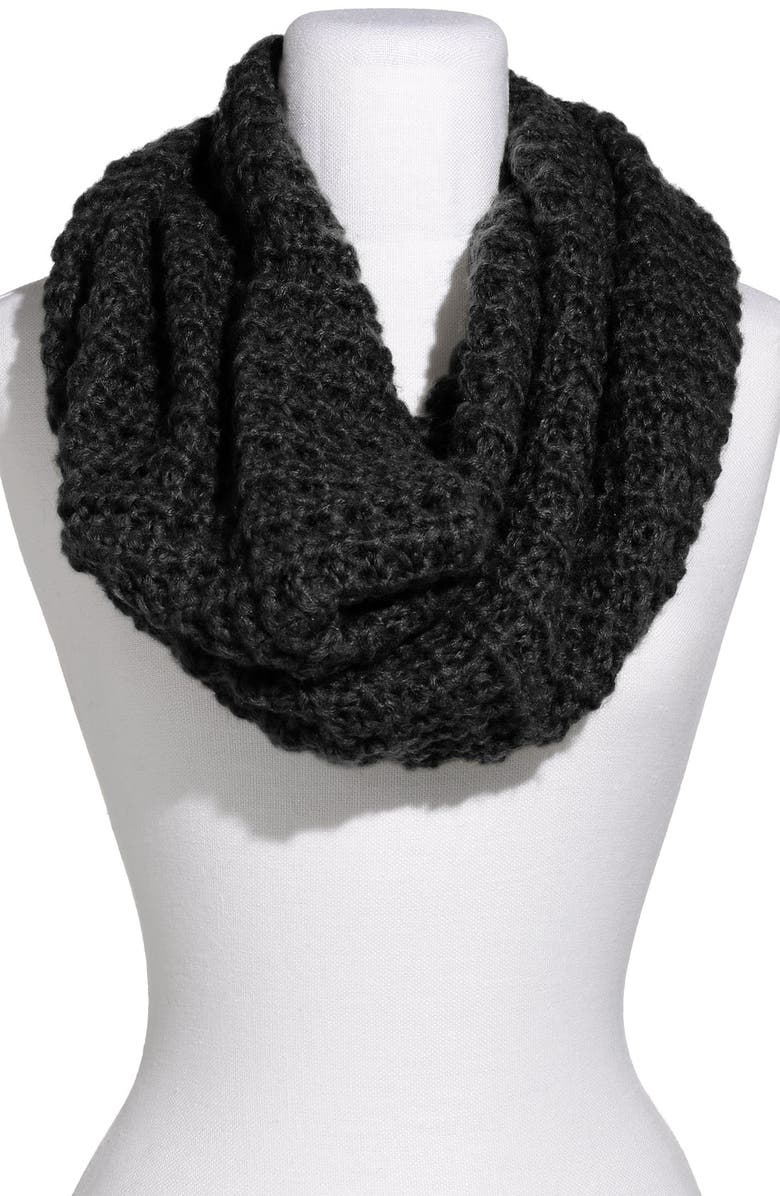 BP. Frenchi<sup>®</sup> Waffle Knit Infinity Scarf, Main, color, 001