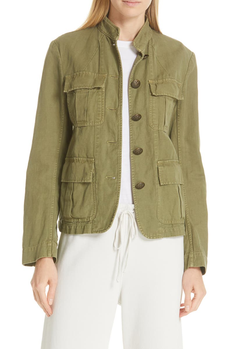 NILI LOTAN Cambre Jacket, Main, color, UNIFORM GREEN