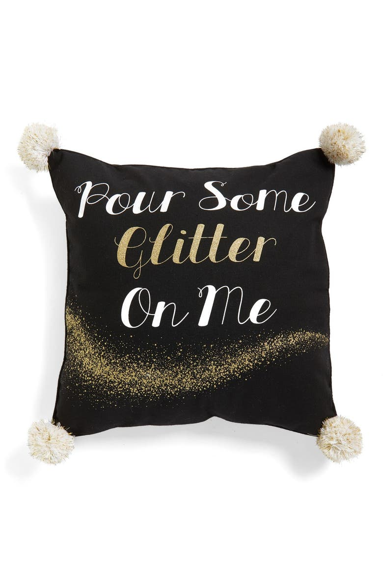 LEVTEX 'Pour Some Glitter On Me' Accent Pillow, Main, color, 001