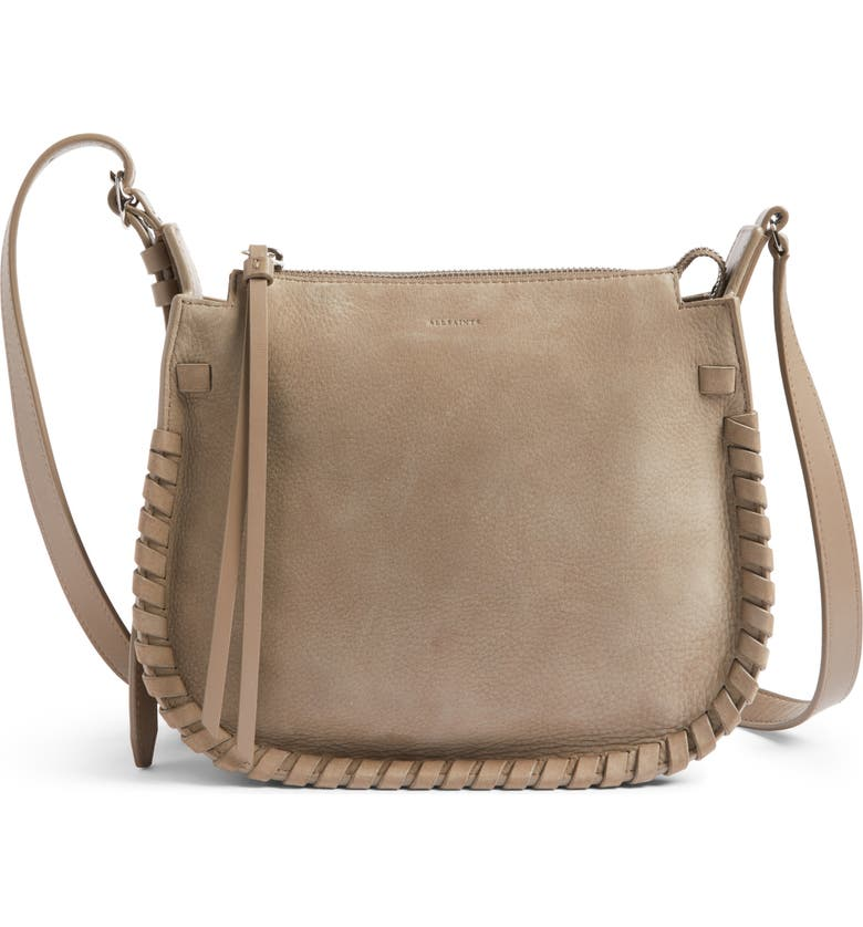 ALLSAINTS Ray Nubuck Crossbody Bag, Main, color, 080