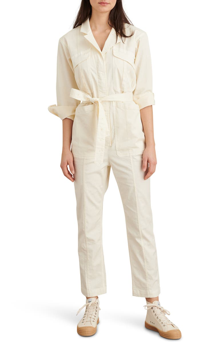 ALEX MILL Expedition Twill Jumpsuit, Main, color, OATMILK