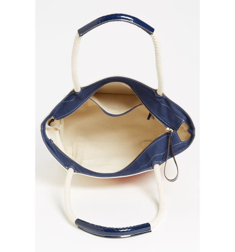 MILLY Lobster Print Canvas Tote, Main, color, 299