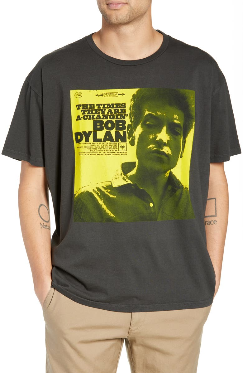 BARKING IRONS Dylan Album Cover Graphic T-Shirt, Main, color, 001