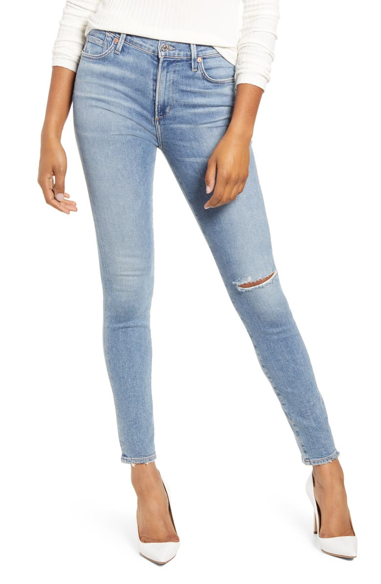 CITIZENS OF HUMANITY Rocket Ripped Skinny Jeans, Main, color, 454